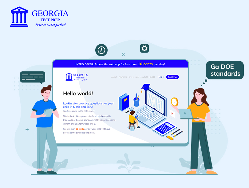 Announcing Georgia Test Prep- An online tool to help your child create a solid foundation in Georgia Standards of Excellence!