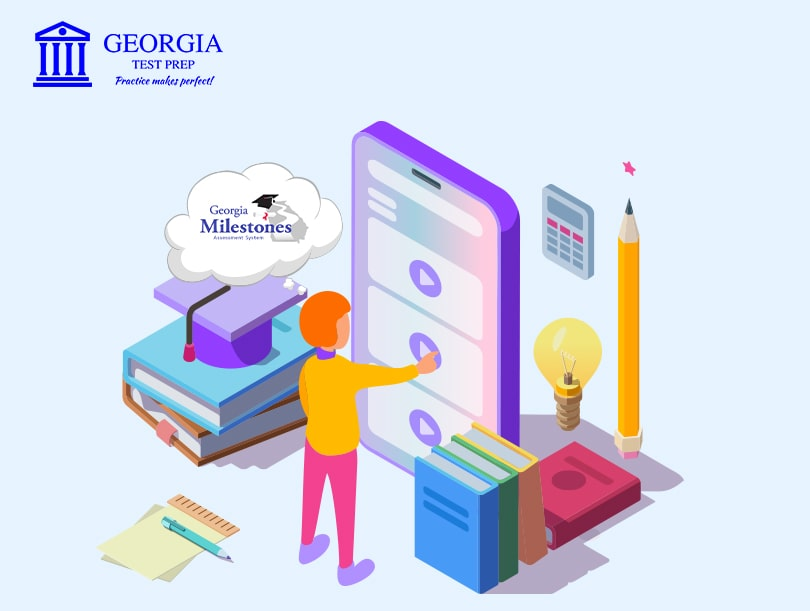 Graphical image of showing Georgia Test Prep web app new announcement- Georgia Test Prep