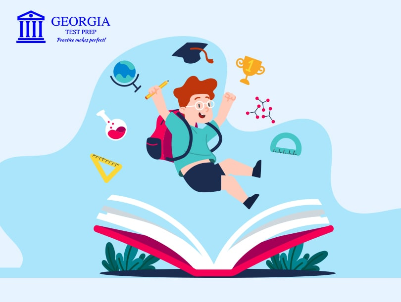 Graphical image of child enjoying creativity- Georgia test prep LLC